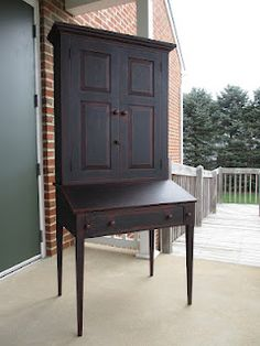Country Style Desk. I could see this piece in a Primitive Family Room.