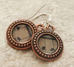 TierraCast copper resin with vintage music by DragonflyDreamers, $22.00