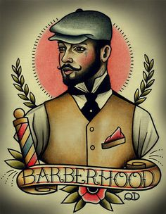 Barberhood Tattoo Art Print