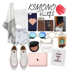 """""""#IDC"""" by alexisskye122004 ❤ liked on Polyvore featuring Topshop, J.Crew, Royce Leather, Converse, Bobbi Brown Cosmetics, Bling Jewelry, Urban Decay, Des Petits Hauts and kimonos"""