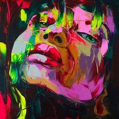 Paletmes schilderij kleurrijk gezicht - Palet overige schilderijen
