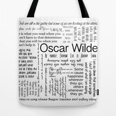 Tote Bag or Pillow  Oscar Wilde Quotes by RandomOasis on Etsy, $24.00