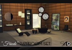Friede Bathroom Set (new mesh) | Sims 4 Designs
