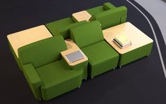 """Puzzle"" lounge chairs- infinite possibilities!! Check it out!"