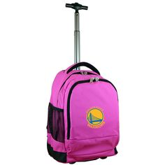 NBA Golden State Warriors 19 in. Pink Wheeled Premium Backpack
