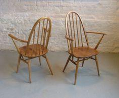 6 x Ercol Windsor Quaker Dining Chairs Retro Vintage | eBay
