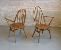 6 x Ercol Windsor Quaker Dining Chairs Retro Vintage | eBay