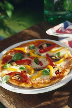 Pizza aux poivrons confits, une pause vitaminée