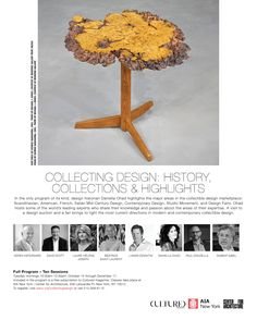 Collecting Design at the Center for Architecture: Fall Bard College, Pratt Institute, Educational Programs, Museum Exhibition, Research Projects, Wall Street Journal, Art Fair, Mid Century Design, Art Market