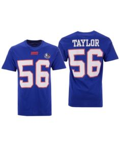 d5c6a0adfbe Majestic Men's Lawrence Taylor New York Giants Hall of Fame Eligible  Receiver Triple Peak T-