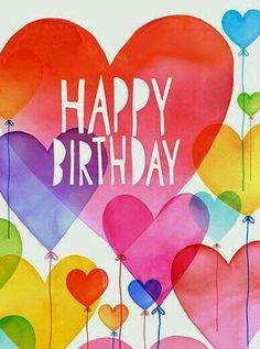 happy birthday waterpaint