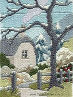 Winter Garden Long Stitch Kit by Derwentwater Designs from the range 'Seasons in Long Stitch' designed by Rose Swalwell.