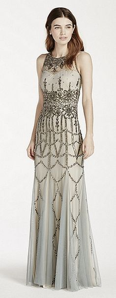 Beautifully embellished #bridesmaid dress