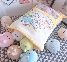 kawaii toy 8 pcs Sumikko Gurashi Soft Plush Toys Cartoon Dolls For Kids Children Delite Shopping Otaku Room, Pink Panda, Kawaii Room, Cute Stuffed Animals, Cute Pillows, Cute Plush, Cute Toys, Kawaii Cute, Baby Toys