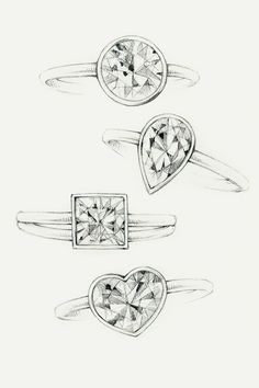 how to draw engagement ring