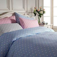 Cath Kidston Large Spot Duvet Cover, Blue / White