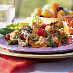 Chicken Salad with Asparagus and Toasted Almonds by Cooking Light