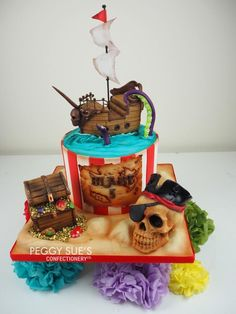 Pirate Cake by PeggySuesCC