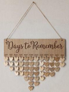 Days Reminder Wall Art DIY Wood Calendar