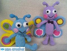 Vlinder - Dutch Translation ~ Zan Crochet, #haken, gratis patroon, Nederlands, vlinder, amigurumi, knuffel, speelgoed, #haakpatroon