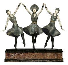 Figurine by Demetre Chiparus Скульптор Demetre Chiparus и его изящные работы - Ярмарка Мастеров - ручная работа, handmade