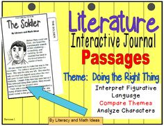 Literature Interactive Journal Passages-Each document teaches a theme.  The stories are small enough to fit right inside of student notebooks.  Close reading questions are included.