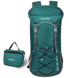 9437230cc79d 45L Lightweight Packable Hiking Daypack Waterproof Travel Backpack Fits Men  and Women for Camping Climbing Mountaineering
