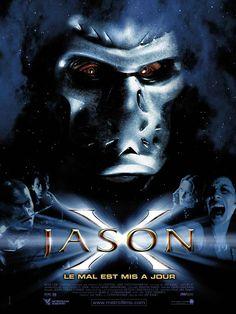 Jason X (Boogeyman cryogénisé) - Cinéma Choc Horror Icons, Horror Movie Posters, Horror Movies, Horror Art, Men In Black, John Wick, Captain Marvel, Infinity War, Aladdin