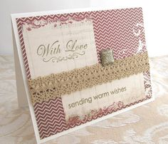 Warm Wishes Card  With Love Card  Holiday by PrettyByrdDesigns, $4.00