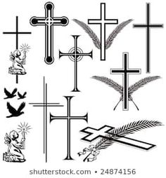 Find Obituary Signs Symbols stock images in HD and millions of other royalty-free stock photos, illustrations and vectors in the Shutterstock collection. Small Cross Tattoos, Simple Cross Tattoo, Cross Tattoo For Men, Cross Tattoo Designs, Wall Crosses, Tattoos For Guys, Illustration, Character Art, Royalty Free Stock Photos