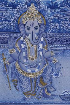 Blue Ganesha sketch line art Hindu, Indian Paintings, Elephant Art, Shiva Shakti, Beautiful Creatures, Ganesha Art, Deities, Art, Buddha