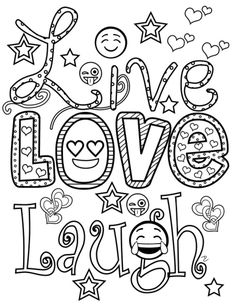 Emoji World Coloring Book: 24 Totally Awesome Coloring Pages Emoji Coloring Pages, Printable Adult Coloring Pages, Coloring Pages For Girls, Doodle Coloring, Coloring For Kids, Colouring Pages, Coloring Books, Smileys, Doodle Pages
