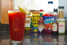 Clamato Juice Bloody Mary is the best recipe for your weekend brunch topped off with all the pickles you could want.