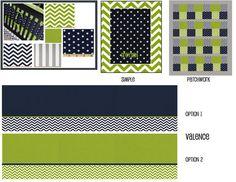 Navy & Lime Green Custom Crib Bedding by DandilionWishes on Etsy