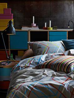 En bra dag börjar med en god natt. Ge sovrummet den omtanke det förtjänar, så kommer du att få lika mycket omtanke tillbaka – varje dag. IKEA PS 2014 påslakan.
