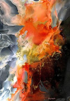 Alcohol Ink Painting - Burning Desire by Alexis Bonavitacola