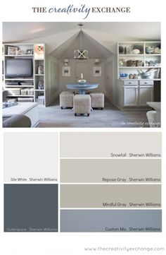 Office/Craft Room Paint Color Palette (Paint It Monday)..