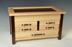 Tiger Maple and Zircote Jewelry Chest