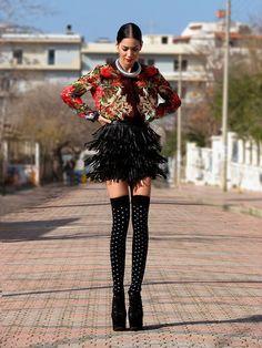 Konstantina Tzagaraki, model and fashion blogger from Athens living in Rome.  Blog: lookbook.nu/konstantina