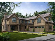 Craftsman House Plan with 3919 Square Feet and 4 Bedrooms from Dream Home Source | House Plan Code DHSW56065