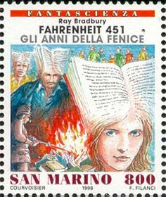 Literary Stamps: Bradbury, Ray (b. 1920)