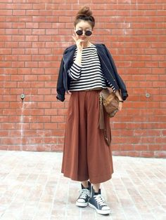 Midi Skirt, Dressing, Skirts, Pants, How To Wear, Naver, Japanese Style, Fashion Ideas, Scrap