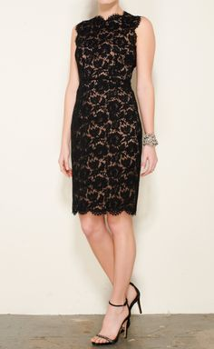Valentino Black And Beige Dress | VAUNTE