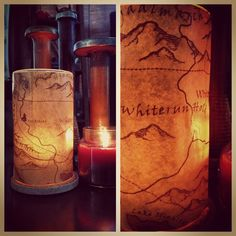Skyrim map candle