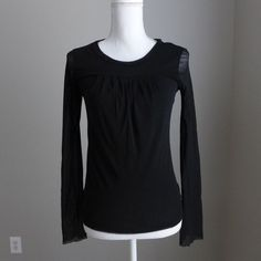 SWEET PEA by Stacy Frati Anthropologie Black Long Sleeve Sheer Nylon Top Size M  | Clothing, Shoes & Accessories, Women's Clothing, Tops & Blouses | eBay!