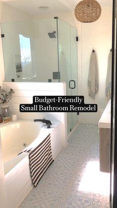 Master Bath Remodel, Remodel Bathroom, Bathroom Remodeling, Inexpensive Bathroom Remodel, Small Shower Remodel, Small Bathroom Renovations, Home Remodeling Diy, Bathroom Renos, Bathroom No Window