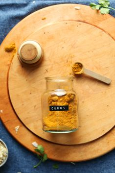 An easy, DIY curry powder that's perfect for dishes like soups, stews, salads, curries and more! Not too spicy, flavorful, and so delicious!