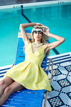 Jessica Hart Poses Poolside for Eric Guillemain in Foams June 2013 Cover Shoot | Fashion Gone Rogue: The Latest in Editorials and Campaigns