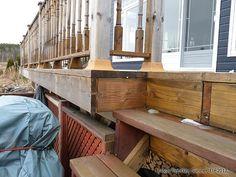 Build a Deck Plans - DIY Deck Stair and Deck Railings Deck Stairs, Deck Railings, Deck Framing, Terrasse Design, Design Rustique, Raised Deck, How To Build Steps, Wrap Around Deck, Victorian Design