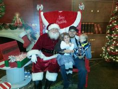 Me and my kids with Santa